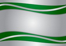 Wave green and silver abstract vector background stock illustration