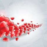 Wave of group hearts Royalty Free Stock Images