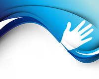 Wave and hand concept background Stock Image