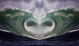 Wave Heart 1. For the love of the ocean Royalty Free Stock Photos