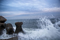 Wave hit Royalty Free Stock Photo