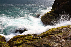 Wave hits the rocks, Unawatuna Royalty Free Stock Image