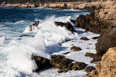 Wave Hitting Northern California Coastline Royalty Free Stock Photos
