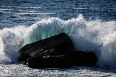 Wave Hitting Rock Off California Coastline Stock Image