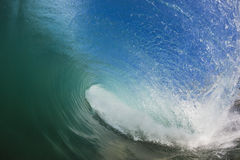 Wave Hollow Inside Water Royalty Free Stock Photo