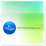 Wave Icon Internet Button on Vector Background Stock Photo