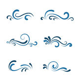 Wave icon set royalty free illustration