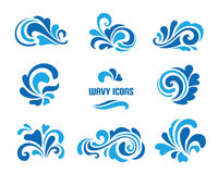 Wave icons royalty free illustration