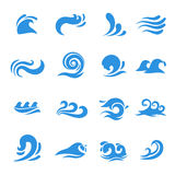 Wave icons vector Stock Images