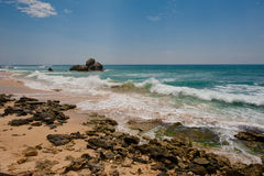 Wave. Indian ocean in Sri Lanka stock photos