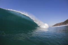 Wave Inside Blue Stock Photo