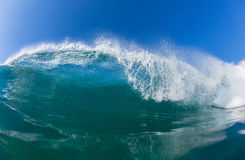 Wave Inside Blue Water Stock Image