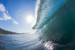 Wave Inside Crashing Ocean Royalty Free Stock Photography