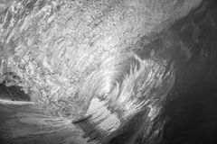 Wave Inside Hollow Black White Royalty Free Stock Images