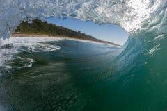 Wave Inside Hollow Crashing Stock Photography
