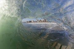 Wave Inside Tube Stock Photo