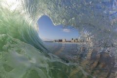 Wave Inside Tube Stock Image