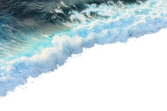 Wave isolated white Royalty Free Stock Photos