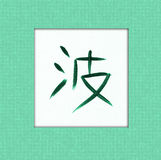 Wave Kanji Royalty Free Stock Photo