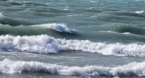 Wave of Lake Michigan. Waves of Lake Michigan In Winter - Michigan City Indiana royalty free stock photography