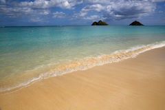 Wave on Lanikai Beach Royalty Free Stock Image