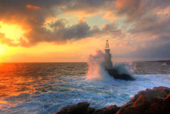The Wave - lighthouse near Ahtopol, Bulgaria Stock Photo