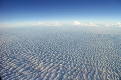 Wave-like Cloud viewed from Airplane Royalty Free Stock Photography