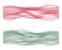 Wave line flag of Hungary. With colorful curved  lines Stock Images