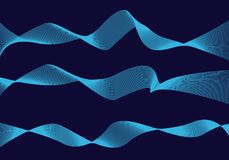 Wave line in space abstraction space geometry vector illustration