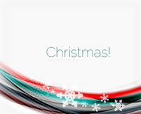 Wave line with snowflakes. Christmas abstract background. Wave line with snowflakes. Christmas vector abstract background, business holiday presentation template Royalty Free Stock Photos