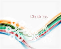 Wave line with snowflakes. Christmas abstract background. Wave line with snowflakes. Christmas vector abstract background, business holiday presentation template Royalty Free Stock Images