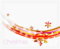 Wave line with snowflakes. Christmas abstract background Royalty Free Stock Photo