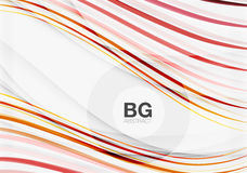 Wave lines abstract background. Vector template background for workflow layout, diagram, number options or web design Vector Illustration