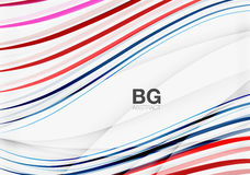 Wave lines abstract background Stock Photo