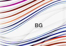 Wave lines abstract background Royalty Free Stock Images