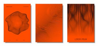 Abstract Backgrounds with 3d Effect. stock illustration