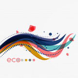 Wave lines, floral abstract background Royalty Free Stock Photos