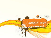 Wave lines sample text vector illustration Stock Image