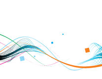 Wave lines sample text vector illustration Royalty Free Stock Photos