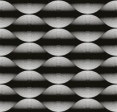 Wave lines seamless pattern, abstract geometric black and white Royalty Free Stock Image