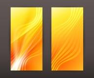 Wave lines vertical banner set presentation leaflet Stock Photography