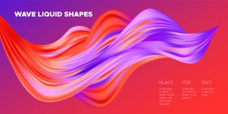3d Abstract Liquid Colorful Shapes. vector illustration
