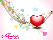 Wave love background. Vector illustration Royalty Free Stock Images