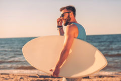 Wave lover. Royalty Free Stock Images