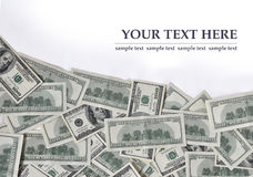 Wave made of dollars. Wave made of money, free space for text Stock Image