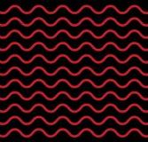 Wave marrone-rosso bianco nero geometrico senza cuciture allinea il modello di vettore del fondo Fotografie Stock Libere da Diritti