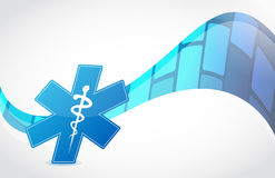 Wave medical symbol illustration. Design modern background Royalty Free Stock Photography
