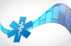 Wave medical symbol illustration Royalty Free Stock Photography