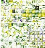 Wave mega set, pack backgrounds Vector Illustration