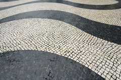 Wave-motif Tiles at Senado Square: Macau Royalty Free Stock Photography